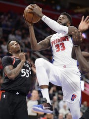 Pistons forward James Ennis III is shooting 36 percent