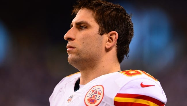 Former Kansas City Chiefs tight end Anthony Fasano during the 2013 AFC wild card playoff football game.