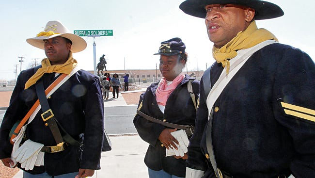 Robert E. Lee Road on Fort Bliss was renamed Buffalo Soldier Road in 2014.