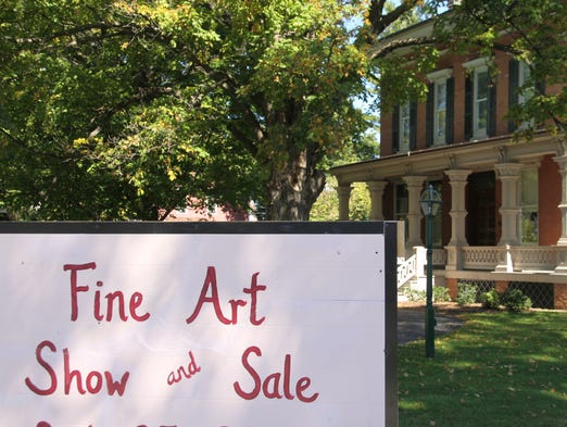 The first Morgan-Manning Fine Art Show was held at the Morgan-Manning House