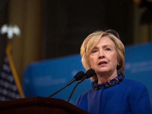 Hillary Clinton Speaks To Forum At Columbia University In New York