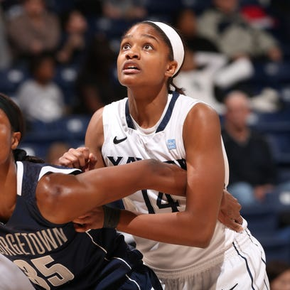 Briana Glover (right) has averaged a team-best 10.6