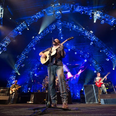 The Dave Matthews Band performs at Wells Fargo Arena