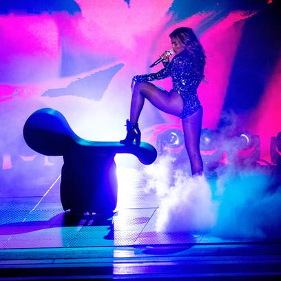 Beyonce performs onstage during the 2014 MTV Video