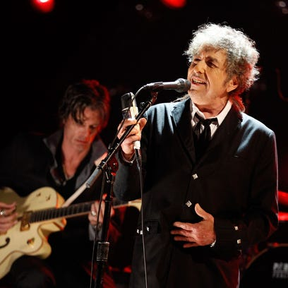 Bob Dylan performs onstage during the 17th Annual Critics'