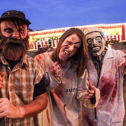 Left to right, Dressed to scare, Indy Scream Park's