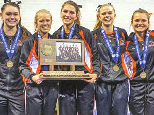 The 2015-2016 gymnastics team won the state championship for Section 8AA with a season-high score of 149.125. It was the gymnastic team's first state championship win.