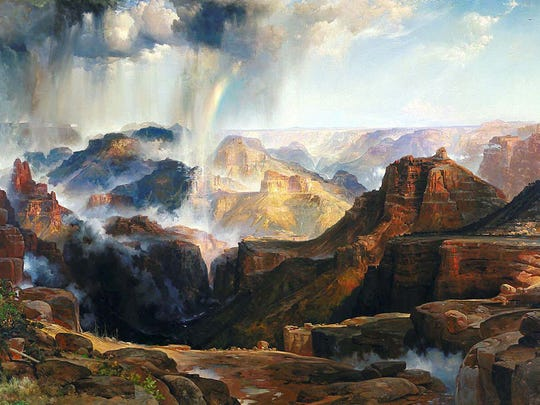 "Thomas Moran sold his painting, ""Chasm of the Colorado,"""
