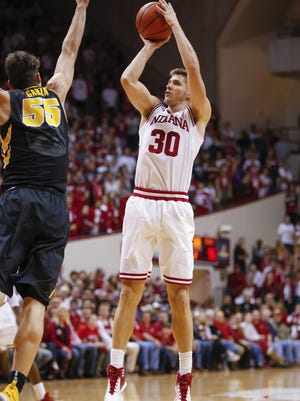 Indiana expects to have  veteran leader Collin Hartman (30) available for the Northwestern game.  Hartman missed the Minnesota game with shoulder soreness.