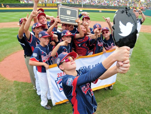 New York celebrates after winning the Little League