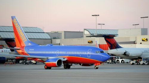 Consumer complaints about U.S. airlines in April fell 20 percent over April 2015. Southwest Airlines had the lowest rate of complaints, according to the Department of Transportation.