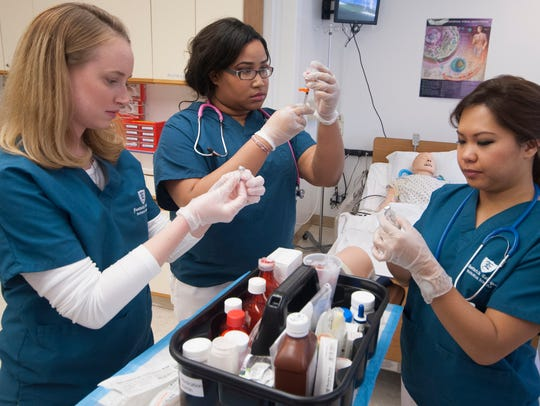 Eastwick College nursing students practice real-time