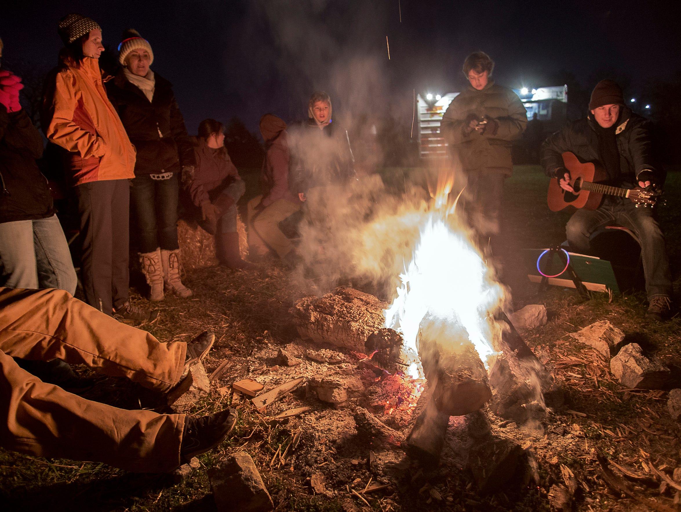 Enjoy a roaring campfire on Saturday.
