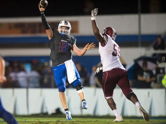 Campbell County's Zach Rutherford throws the ball while