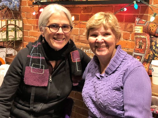 Sisters-in-law – Claire Ruthenberg was in town for