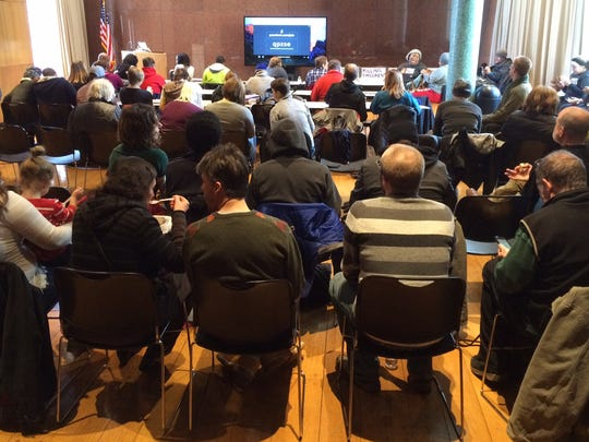 Black Lives Matters' educational forum Monday afternoon on the later writings and speeches of Martin Luther King Jr. drew about 90 people, roughly half of them non-black, to the Public Library of Cincinnati and Hamilton County's main branch downtown.