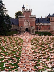 'Flanders 1.1 (Gaasbeek Castle, Belgium)' by Spencer Tunick, 2011.