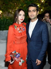 """Zoe Kazan and Kumail Nanjiani attend """"The Big Sick""""  premiere after-party on June 20, 2017, in New York City."""