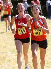 Emily Kingston of CVU and Middlebury's Caroline Kimble