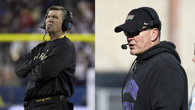Mike MacIntyre and Mike Houston were awarded by the American Football Coaches Association on Tuesday.