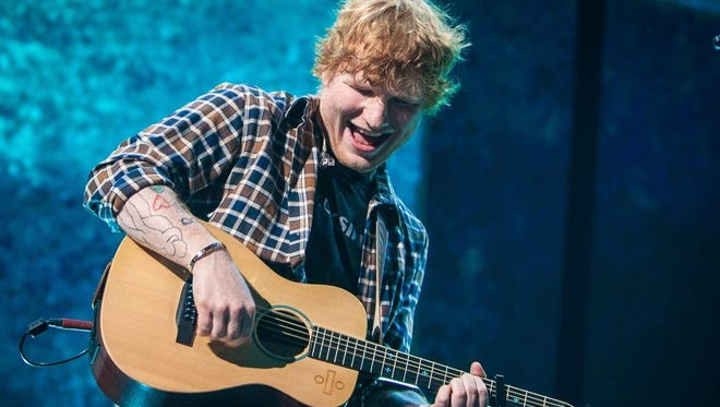 Ed Sheeran performs Friday at Bankers Life Fieldhouse.
