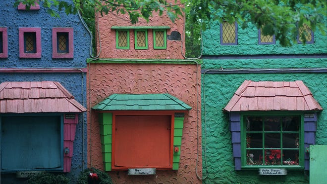 This 1997 file photo shows colorful sets at Fairy Tale Forest in Oak Ridge.
