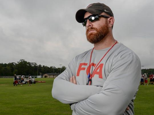 Liberty High School football head coach Kyle Stewart.