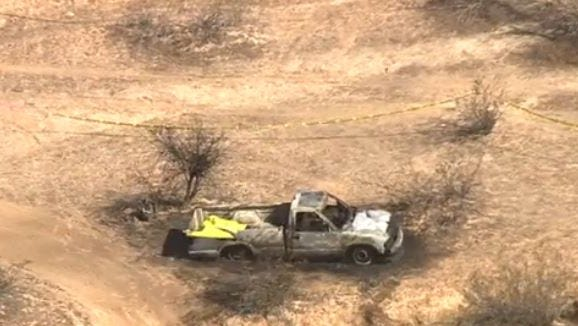 Surprise police identified three bodies found in a burned-out vehicle earlier this month.