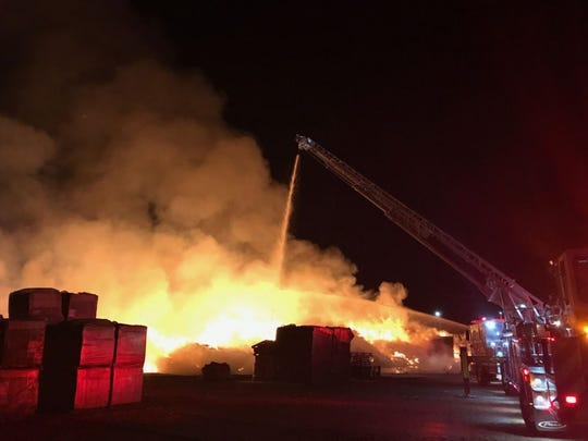 A large fire occurred at the Tanimura & Antle site on March 26.
