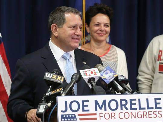 Joe Morelle, surrounded by his family including wife