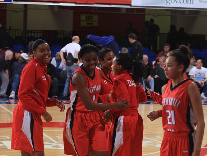 Peekskill defeated Beacon 63-35 to win the Section 1 Girls Class A semifinal basketball playoff game at the Westchester County Center in White Plains Feb. 26, 2014.