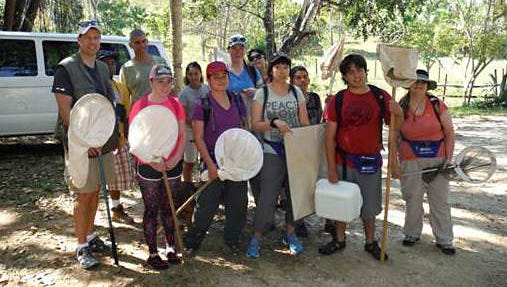 New Mexico State University students and entomology professor Scott Bundy traveled to Belize in 2014. Bundy and another group of students will study diversity of arthropods in Belize again in March 2016.