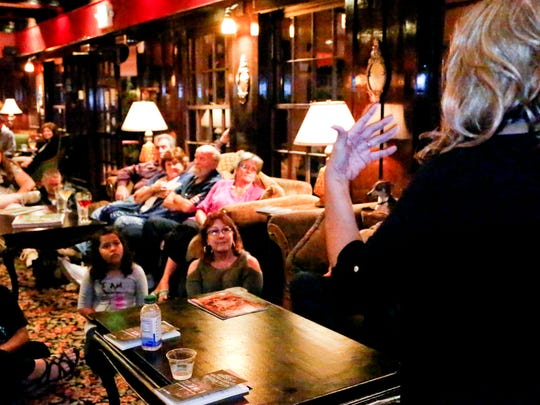 Author Evie Ybarra holds a book-signing and storytelling session at the Glen Tavern Inn on Friday.