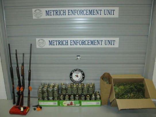 Detectives seized 14 mature marijuana plants and over