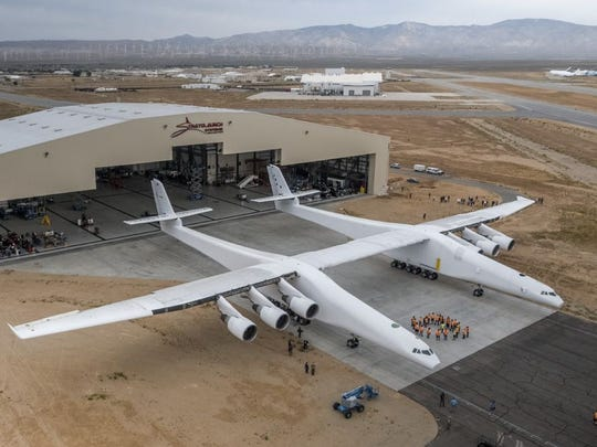 The Stratolaunch aircraft weighs about 500,000 pounds.