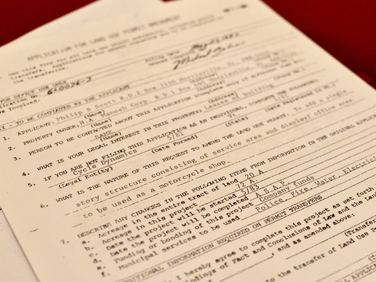 This Act 250 permit application was filed for Gov. Phil Scott's motorcycle shop in 1983, shortly before the effort was abandoned.