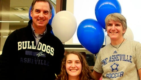 West Henderson senior Jenna Sharrits has signed to play college soccer for UNC Asheville.