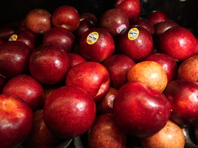 Pluots, a combination of plums and apricots, at ShopRite of Greater Morristown.