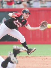 UL's Kassidy Zeringue has exhibited incredible range at second base throughout the season.