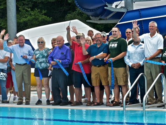 The Waupun Family Aquatic Center at the Fond du Lac County Park was officially opened with a ribbon cutting ceremony on Saturday, July 26.  Many local officials and representatives shared in the event.
