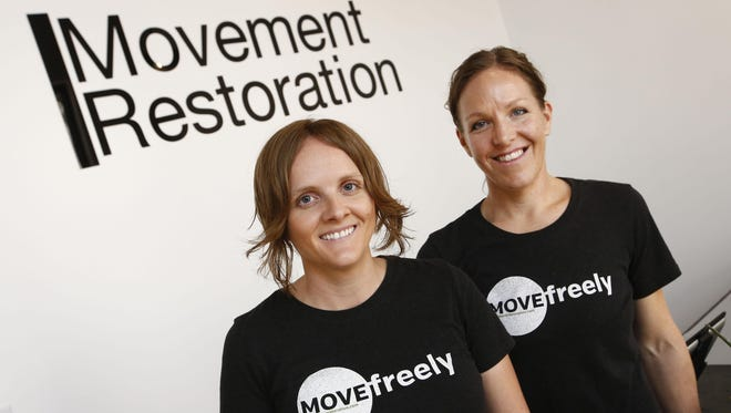 Brynn Martin and Trisha Haws (right), co-founders of Movement Restoration on Monday, June 8, 2015 in Scottsdale, AZ. Movement Restoration, a private massage practice based on helping to restore natural movement back to the body through soft tissue massage.