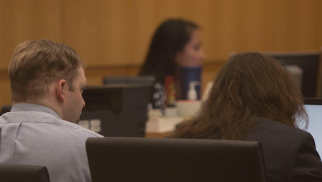 John Allen sits in court on Nov. 6, 2017. Sammantha Allen, John's wife, was sentenced to death in August for her part in Ame Deal's murder. Three other family members already are in prison for their roles in the case.