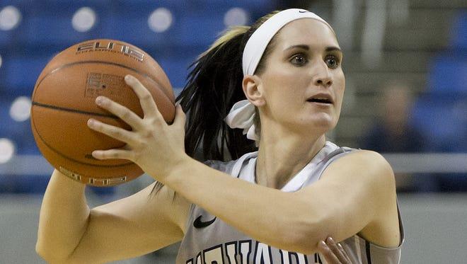 Danika Sharp of Nevada plays in a Jan. 1 game against San Jose State.