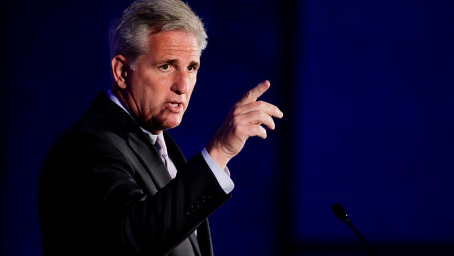 House Majority Leader Kevin McCarthy speaks at the California GOP convention on Sept. 20, 2014 in Los Angeles.