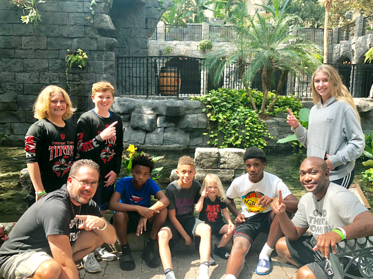 The team and coaches had fun at the Gaylord Palms Hotel