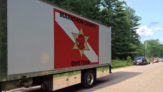 The Marathon County Dive Team was part of the search efforts to find a man who died Saturday afternoon while swimming in a Rib Mountain pond.
