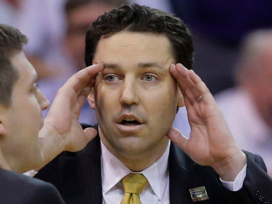 Vanderbilt coach Bryce Drew looks on during the second