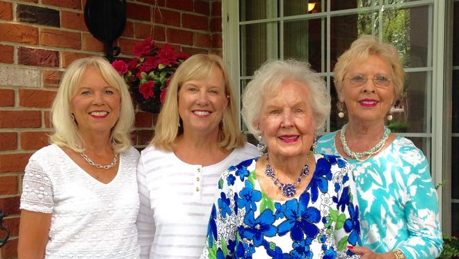 The three daughters of Camilla Kavanagh gathered to celebrate their mother's 100th birthday. (From left) Denise Borgon of Beverly Hills, Debbie Alfano of North Carolina, Camilla Kavanagh of Beverly Hills and Susan VanAuken of Ohio. Their families and friends had a party and many gave tributes to Camilla Kavanagh who continues to lead a very active life.