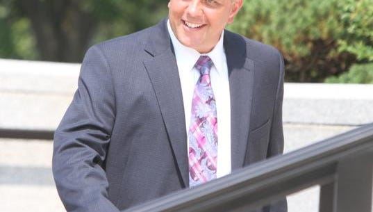 Joseph Savino, former Bronx GOP chair and ex-Clarkstown lawyer, arrives at the Federal Courthouse in White Plains July 19, 2013.