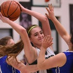 Salem Academy's Sydney Brown and the Crusaders defeat Blanchet 60-41 in a PacWest Conference game on Thursday, Feb. 5, 2015, in Salem.